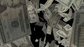 Falling Dollars stock footage