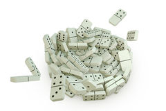 Falling domino Stock Photography