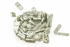 Falling domino Stock Images