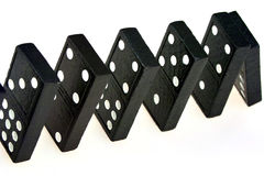 Falling Dominoes Royalty Free Stock Images
