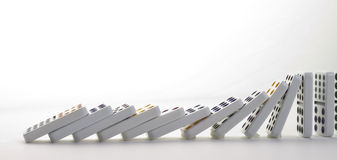Falling dominoes Royalty Free Stock Photo