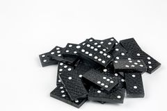 Falling dominoes. Domino effect. The domino game. Falling dominoes. The domino game royalty free stock photography