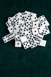Falling dominoes. The domino game. Falling dominoes. Domino effect. The domino game royalty free stock image