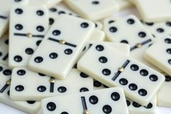 Falling dominoes. The domino game. Falling dominoes. Domino effect. The domino game royalty free stock images