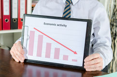 Falling down of economic activity Royalty Free Stock Photo