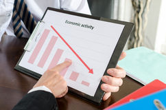 Falling down of economic activity Royalty Free Stock Image