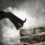 Falling down from rock Royalty Free Stock Photos
