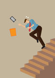 Falling Down on Staircase Vector Illustration Stock Image