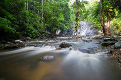 Falling down. Ton nga chang waterfall is the beautiful place in Songkhla Stock Photos