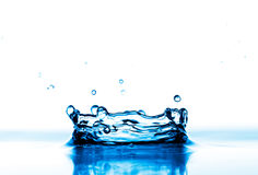 Falling down water drops Royalty Free Stock Images