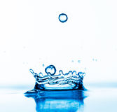 Falling down water drops Royalty Free Stock Image