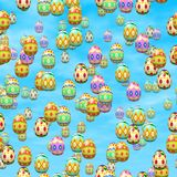 Falling easter eggs generated hires texture Stock Photo