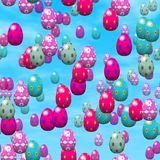 Falling easter eggs generated hires texture Royalty Free Stock Photo