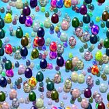 Falling easter marble eggs generated texture Stock Photos