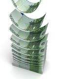 Falling Euro. ( with clipping path stock illustration