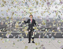 Falling euro banknote Stock Images