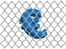 Euro behind the fence Royalty Free Stock Photo