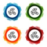 Falling Euro Coins Icons. Eps10 Vector stock illustration