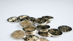 Falling Euro coins stock video