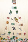 Falling of euro currency Royalty Free Stock Photo