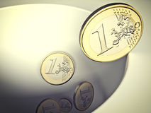 Falling euro Stock Images