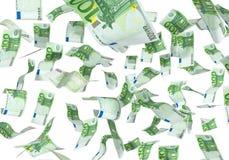 Falling euros Stock Image