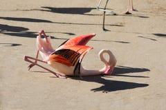 Falling flamingo bird Royalty Free Stock Photography