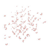 Falling, flying petals of roses, cherry blossoms, cherries, apricots, apple-trees. Whirlwind, wedding background. Falling, flying petals of roses, cherry Stock Photo