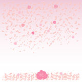 Falling, flying petals of roses, roses, cherry blossoms, cherries, apricots, apple-trees. Whirlwind, wedding background. Falling, flying petals of roses, cherry Royalty Free Stock Photo