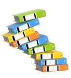 Falling folders Stock Photo