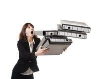 Falling folders Stock Photography