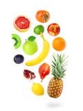 Falling fresh color fruits Stock Photos