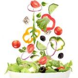 Falling fresh vegetable Stock Photography