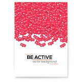 Falling From Above Red Icons Of Social Media Network Activity. Vector Motivational Poster, Cover Design. Notification Of Royalty Free Stock Photo