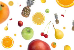 Falling fruits Stock Images