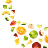 Falling fruits royalty free stock photos