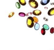 Falling gems Stock Image