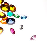 Falling gems Stock Photography