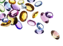 Falling gems Stock Photo