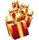 Falling gifts. Royalty Free Stock Images