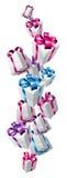 Falling gifts design Stock Image