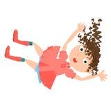Falling girl rabbit hole Royalty Free Stock Images