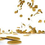 Falling gold chinks Royalty Free Stock Photography