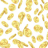 Falling gold point coins Stock Images