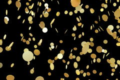 Falling golden coins Royalty Free Stock Images