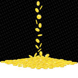 Falling golden coins gambling background Stock Image
