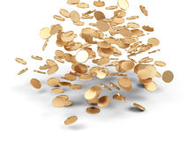 Falling golden money. Stock Images