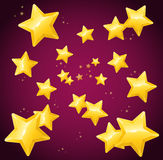 Falling Golden Star Background Wallpaper or Card. Vector. Illustration Royalty Free Stock Image