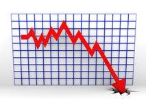 Falling graph Stock Image