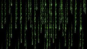 Falling green matrix code stock video footage